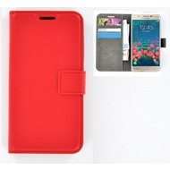 Samsung Galaxy J5 Prime - Smartphone Hoesje Wallet Bookstyle Case Lederlook Rood