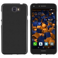 Huawei Y6-2 Compact - Smartphone Hoesje Tpu Siliconen Case Zwart