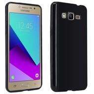 Samsung Galaxy J2 Prime Tpu Siliconen Case Hoesje Zwart