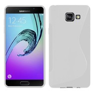 Samsung Galaxy A7 (2016) - Tpu Siliconen Case Hoesje S-Style Wit