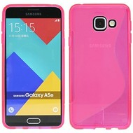 Samsung Galaxy A5 (2016) - Tpu Siliconen Case Hoesje S-Style Roze