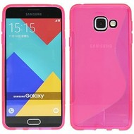 Samsung Galaxy A3 (2016) - Tpu Siliconen Case Hoesje S-Style Roze