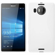 Microsoft Lumia 950 XL - Tpu Siliconen Case Hoesje S-Style Wit