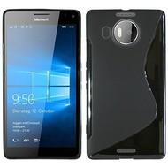 Microsoft Lumia 950 XL - Tpu Siliconen Case Hoesje S-Style Zwart