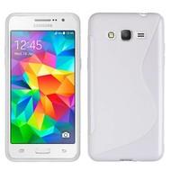 Samsung Galaxy Grand Prime Plus Hoesje Tpu Siliconen Case S-Style Wit