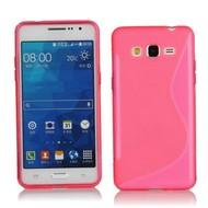 Samsung Galaxy Grand Prime Plus Hoesje Tpu Siliconen Case S-Style Roze