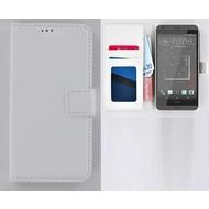 HTC Desire 630 Portemonnee Hoesje Wallet Book Case Wit