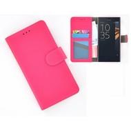 Sony Xperia X Compact Portemonnee Hoesje Wallet Book Case Roze