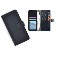 Sony Xperia X Compact Portemonnee Hoesje Wallet Book Case Zwart