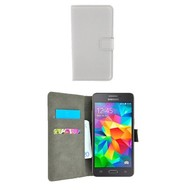 Wallet Book Case Hoesje voor Samsung Galaxy Grand Prime Plus - Wit