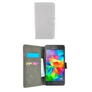 Wallet Book Case Hoesje voor Samsung Galaxy J2 Prime - Wit