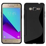 S-Style Tpu Siliconen Hoesje Samsung Galaxy J2 Prime - Zwart