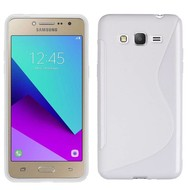 S-Style Tpu Siliconen Hoesje Samsung Galaxy J2 Prime - Wit