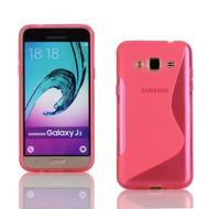 Samsung Galaxy J3 2016 - Tpu Siliconen Case Hoesje S-Style Roze