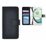 Wallet Book Case Hoesje voor Motorola Moto Z Play - Zwart