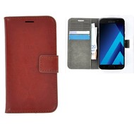 Effen Wallet Booktype Hoesje Samsung Galaxy A3 (2017) - Bruin