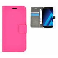 Effen Wallet Booktype Hoesje Samsung Galaxy A3 (2017) - Roze