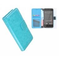 HTC Desire 630 Portemonnee Hoesje Wallet Book Case Turquoise