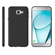 Zwart Tpu Siliconen Case Hoesje voor Samsung Galaxy C7 Pro