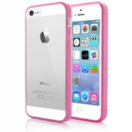 Roze Transparant Tpu Siliconen Case Hoesje voor iPhone 5(s)