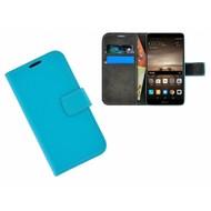 Effen Bookcase Wallet Hoesje voor Huawei Mate 9 - Turquoise