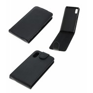 Oni Zwart Flipcase Cover Hoesje Sony Xperia XZs