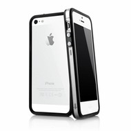 Apple Iphone 5 / 5S - Siliconen Bumper Case Transparant Zwart