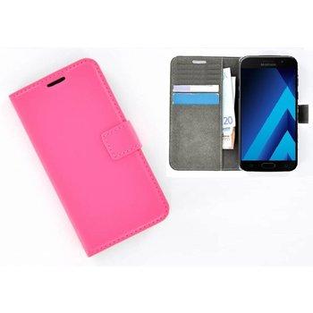 Roze Effen Wallet Bookcase Hoesje Samsung Galaxy C5 Pro
