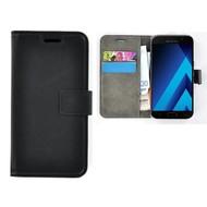 Zwart Effen Wallet Bookcase Hoesje Samsung Galaxy C5 Pro
