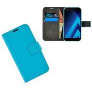 Turquoise Effen Wallet Bookcase Hoesje Samsung Galaxy C5 Pro
