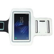 Samsung Galaxy S8 Wit Sport Armband hoesje