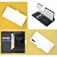 Sony Xperia XZs Wit effen Wallet Bookcase Hoesje