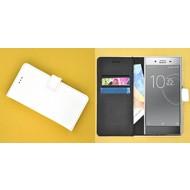 Sony Xperia XZ Premium Wit effen Wallet Bookcase Hoesje