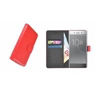 Sony Xperia XZ Premium Rood effen Wallet Bookcase Hoesje