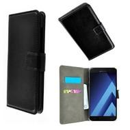 Zwart Wallet Bookcase P Hoesje voor Samsung Galaxy A5 2017