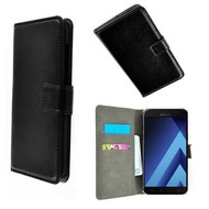 Zwart Wallet Bookcase P Hoesje voor Samsung Galaxy A3 2017