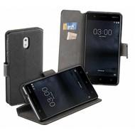 Luxe Y Wallet Bookcase Zwart Hoesje voor Nokia 3