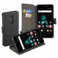 Luxe Y Wallet Bookcase Zwart Hoesje voor Wiko U Pulse Lite