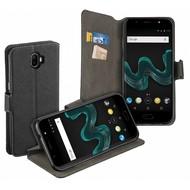 Luxe Y Wallet Bookcase Zwart Hoesje voor Wiko Wim