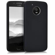 Zwart TPU Siliconen Case Hoesje voor Motorola Moto G5