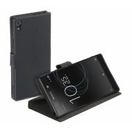 Luxe Y Wallet Bookcase Zwart Hoesje voor Sony Xperia XA1