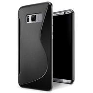 Zwart S-Style TPU Siliconen Case Hoesje voor Samsung Galaxy S8