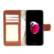 Pearlycase® Echt Lederen Wallet Bookcase Apple iPhone 7 met de handgemaakte Bruin Leren Telefoonhoesje