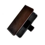 Pearlycase® Echt Lederen Wallet Bookcase Apple iPhone 6/6S met de handgemaakte Donkerbruin Leren Telefoonhoesje