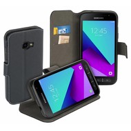 Luxe Y Wallet Bookcase Zwart Hoesje voor Samsung Galaxy Xcover 4