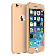 360 graden Full Body Cover Case Goud Hoesje voor iPhone 7