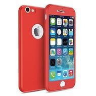 360 graden Full Body Cover Case Rood Hoesje voor iPhone 7