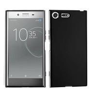 Zwart TPU Siliconen Case Hoesje voor Sony Xperia XZ Premium