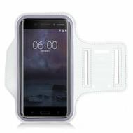 Wit Sportarmband Hardloopband voor Nokia 6