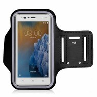 Zwart Sportarmband Hardloopband voor Nokia 3